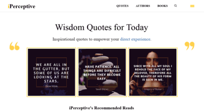 iperceptive.com - wise quotes, mysticism and direct experience - iperceptive
