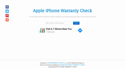 Welcome to Iphonewarrantycheck com - Apple iPhone Warranty Checker