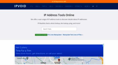 ipvoid.com - ip address tools, network tools, dns tools  ipvoid