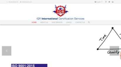 iqrcert.com - iqr uluslararasi belgelendirme hizmetleri ltd. şti