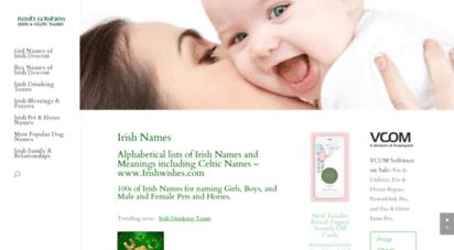 irishwishes.com - irish names - alphabetical lists 100s irish names & meanings