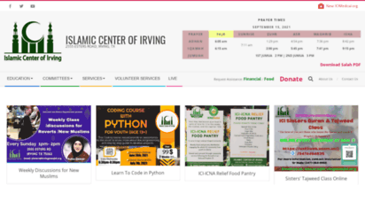 irvingmasjid.org - islamic center of irving - 2555 esters road, irving, tx