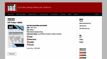 isarder.org - journal of business research-turk : işletme araştırmaları dergisi