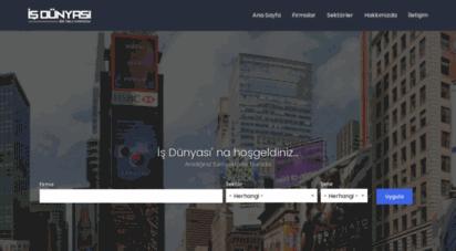 isdunyasi.org - iş dünyası  firma rehberi , tüm firma ve sektörlerin listeleri