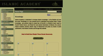 islamicacademy.org - islamic academy for islamic knowledge. learn now in english-urdu