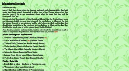 islamicstudies.info - islamicstudies.info - quran, hadith & literature study