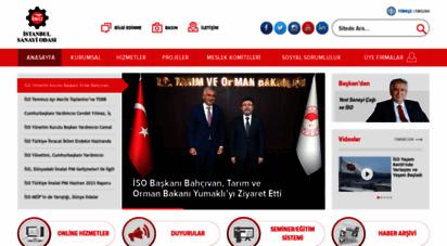 iso.org.tr - istanbul sanayi odası - anasayfa