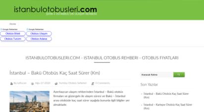 istanbulotobusleri.com - istanbulotobüsleri .com - istanbul otobüs saatleri ve fiyatları