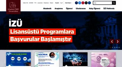 izu.edu.tr - istanbul sabahattin zaim üniversitesi