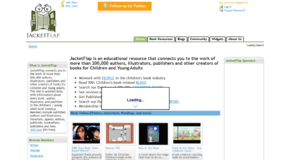 jacketflap.com - jacketflap.com - children´s books, teen books, writers, authors, illustrators, librarians, agents, editors, publicists, publishers, and blogs