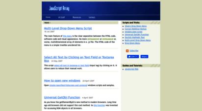 javascript-array.com - javascript dhtml tutorials « javascript dhtml tutorials