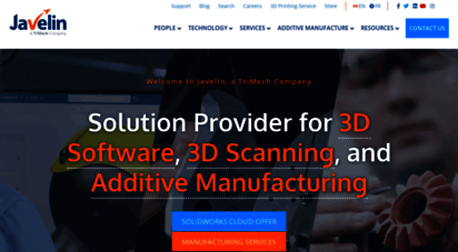 javelin-tech.com - javelin technologies is a canadian value added reseller of solidworks 3d cad and stratasys 3d printers across canada