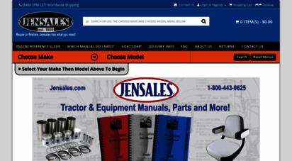 jensales.com - tractor manuals  tractor parts  heavy equipment  jensales