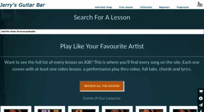 jerrysguitarbar.com - jerry´s guitar bar - guitar lessons, tabs & chords