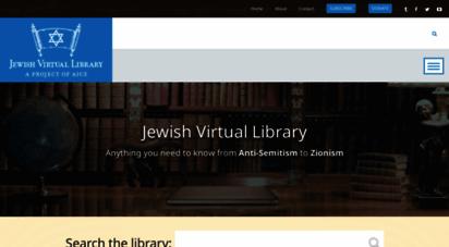 jewishvirtuallibrary.org - jewish virtual library
