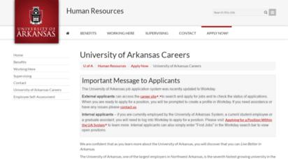 Welcome to Jobs uark edu - University of Arkansas Employment