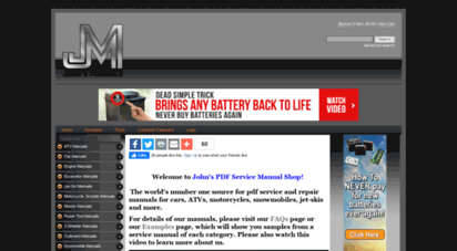 johnsmanuals.com - pdf repair manuals  johns pdf service/shop manuals