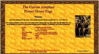 josephus.org - josephus.org - the flavius josephus home page