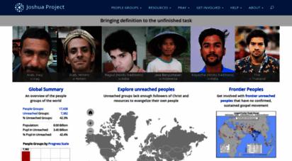 similar web sites like joshuaproject.net