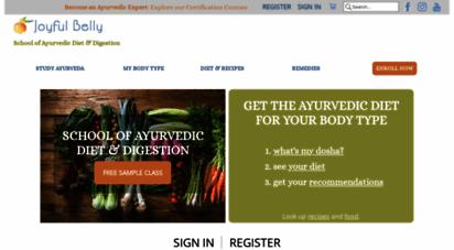 Welcome to Joyfulbelly com - Ayurveda School of Diet