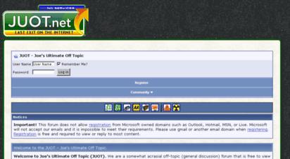 juot.net - joe´s ultimate off topic - juot.net forums
