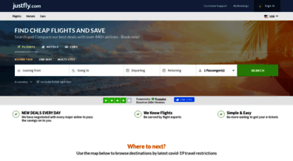 justfly.com - cheap flights, airline tickets and hotels - justfly