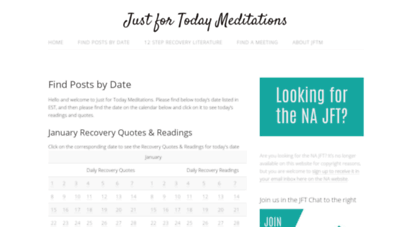 justfortodaymeditations.com - just for today meditations