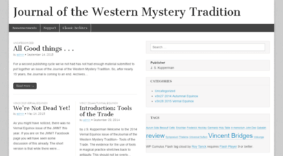 jwmt.org - journal of the western mystery tradition