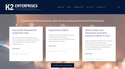 k2e.com - k2 enterprises  home  continuing professional education for accounting and financial professionals