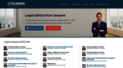 kaanoon.com - legal advice online from top lawyers - indian kaanoon