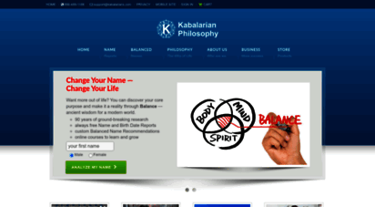 kabalarians.com - looking for your purpose in life, the meaning of a name, meaning of baby names, or how to make a name change?