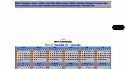 kalender-365.de - kalender für das jahr 2020