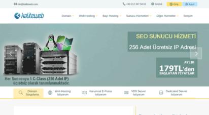 kaliteweb.com - hosting, domain, web hosting - kaliteweb.com