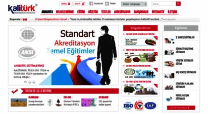 kaliturk.com - kalitürk uluslararası belgelendirme ve eğitim