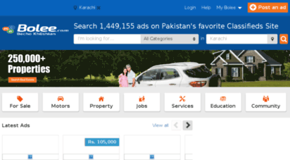 Welcome to Karachi bolee com - Free Classified in Karachi