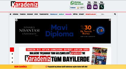 karadenizgazete.com.tr - karadeniz gazetesi  karadeniz´in en büyük basılı, internet gazetesi