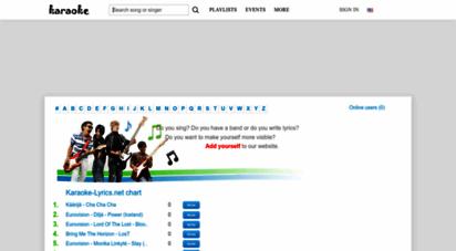 karaoke-lyrics.net - karaoke lyrics, songs lyrics, youtube video clips, photos