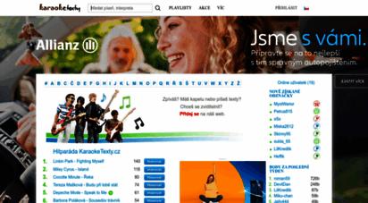 karaoketexty.cz - karaoke texty, texty písní, youtube videoklipy, fotky