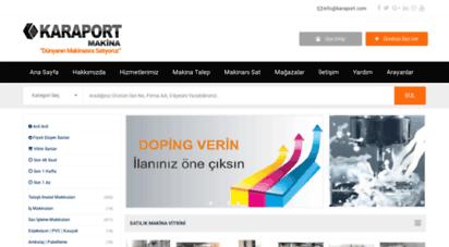 karaport.com - ikinci el ve yeni satılık makina alım satım ilan portalı  www.karaport.com