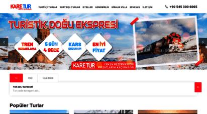 karetur.com - izmir çıkışlı turlar ve kültür gezileri - yurtiçi ve yurtdışı turlar, balkan turları, karadeniz turları, gap turları, tatil otelleri rezervasyonları, kıbrıs otelleri, yunan adaları turu, likya turları