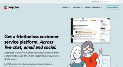 kayako.com - help desk software kayako unified customer service software