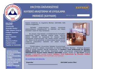 kayham.erciyes.edu.tr - erciyes üniversitesi kayseri hafiza merkezi