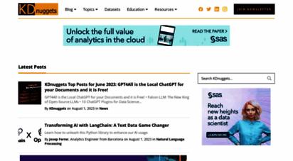 kdnuggets.com - machine learning, data science, big data, anlytics, ai - kdnuggets