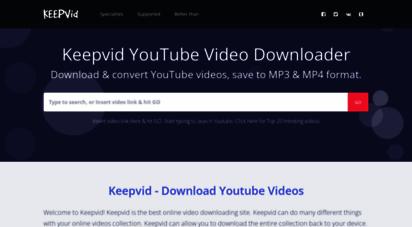 keepv.id - keepvid video downloader online. download youtube videos with keepvid.