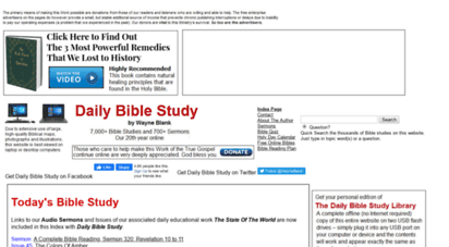 keyway.ca - daily bible study - church of god. istian education. prophecy. worldwide.