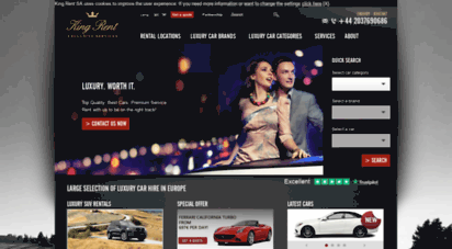 kingrent.com - luxury car rentals in europe - prestige cars hire in italy, france, germany, switzerland - king rent - exclusive services