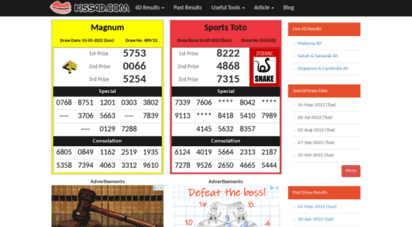 Welcome to Kiss4d com - Malaysia Live 4D Results – Magnum 4D, Sports