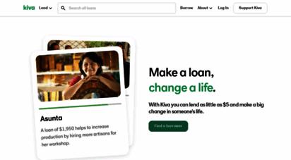 kiva.org - loans that change lives  kiva