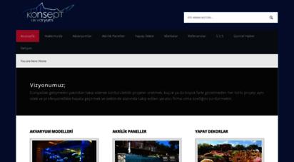 konseptakvaryum.com - deniz akvaryum tasarım, proje, uygulama. deniz akvaryumu ekipmanları. akrilik silindir ve tünel akvaryumlar.