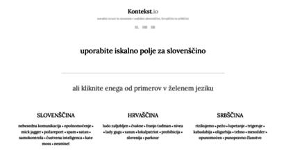kontekst.io - kontekst.io  iskalnik kontekstno podobnih besed v slovenščini, hrvaščini in srbščini